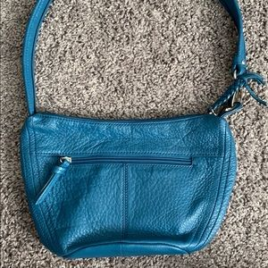 {Stone Mountain} Blue Leather Purse/Handbag